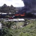 House engulfed in fire near Laqere Bridge on your way to Nausori...Cause of fire is unknown... Investigations continue...