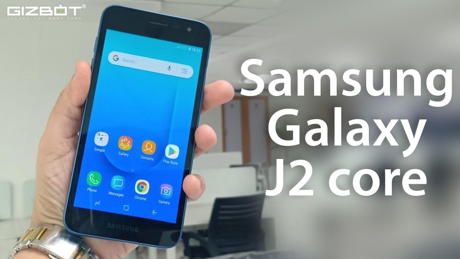 Samsung Galaxy J2 Core First Impressions Hindi Video Dailymotion