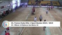 Troisième tour, tir rapide en double, France Club Elite 1, J2, Mâcon contre Balaruc-les-Bains,  saison 2018/2019