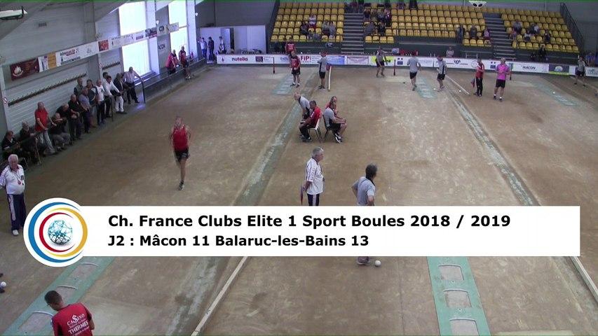 Troisième tour, tir progressif, France Club Elite 1, J2, Mâcon contre Balaruc-les-Bains,  saison 2018/2019