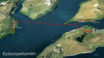 The Eysturoy sub – sea tunnel.The Eysturoy sub-sea tunnel will be some 11 kilometres long, making it the longest sub-sea tunnel on the Faroe Islands. By way of