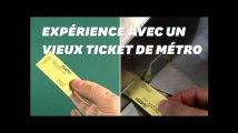 Ce ticket de métro qui a 35 ans marche-t-il encore?