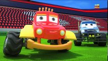 Tv cartoons movies 2019 Monster Truck Dan - Christmas night   Jingle Bells   Christmas carols for kids