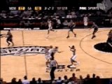 NBA BASKET BALL - Manu Ginobili Lobs To Tim Duncan