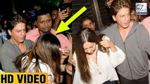 Shahrukh Khan Protects Wife Gauri Khan From Fans At Zoya Akhtar's Birthday Party