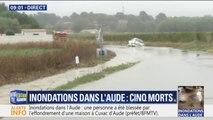 Inondations dans l'Aude: de nombreuses routes sont complètement submergées