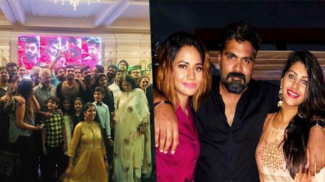 CCV சக்ஸஸ் பார்ட்டியில் கலாட்டா செய்த சிம்பு, யாஷிகா, ஐஸ்!- வீடியோ