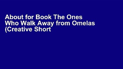 The Ones Who Walk Away From Omelas Resource Learn About Share And