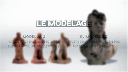 Le modelage - Esquisses pour Balzac, Buste de jeune fille