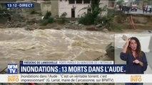 Inondations dans l'Aude: le ministère de l'Intérieur confirme le nouveau bilan de 13 morts