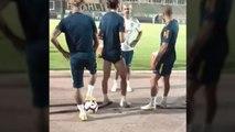 Neymar met des petits ponts à Filipe Luis