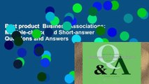 Best product  Business Associations: Multiple-choice and Short-answer Questions and Answers