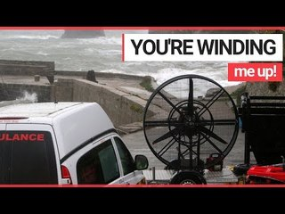 Film Crew Bring Wind Machine to Filming Location as Storm Callum Blasts the Area! | SWNS TV
