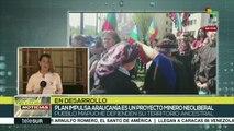 Indígenas mapuches marchan en el Día de la Resistencia