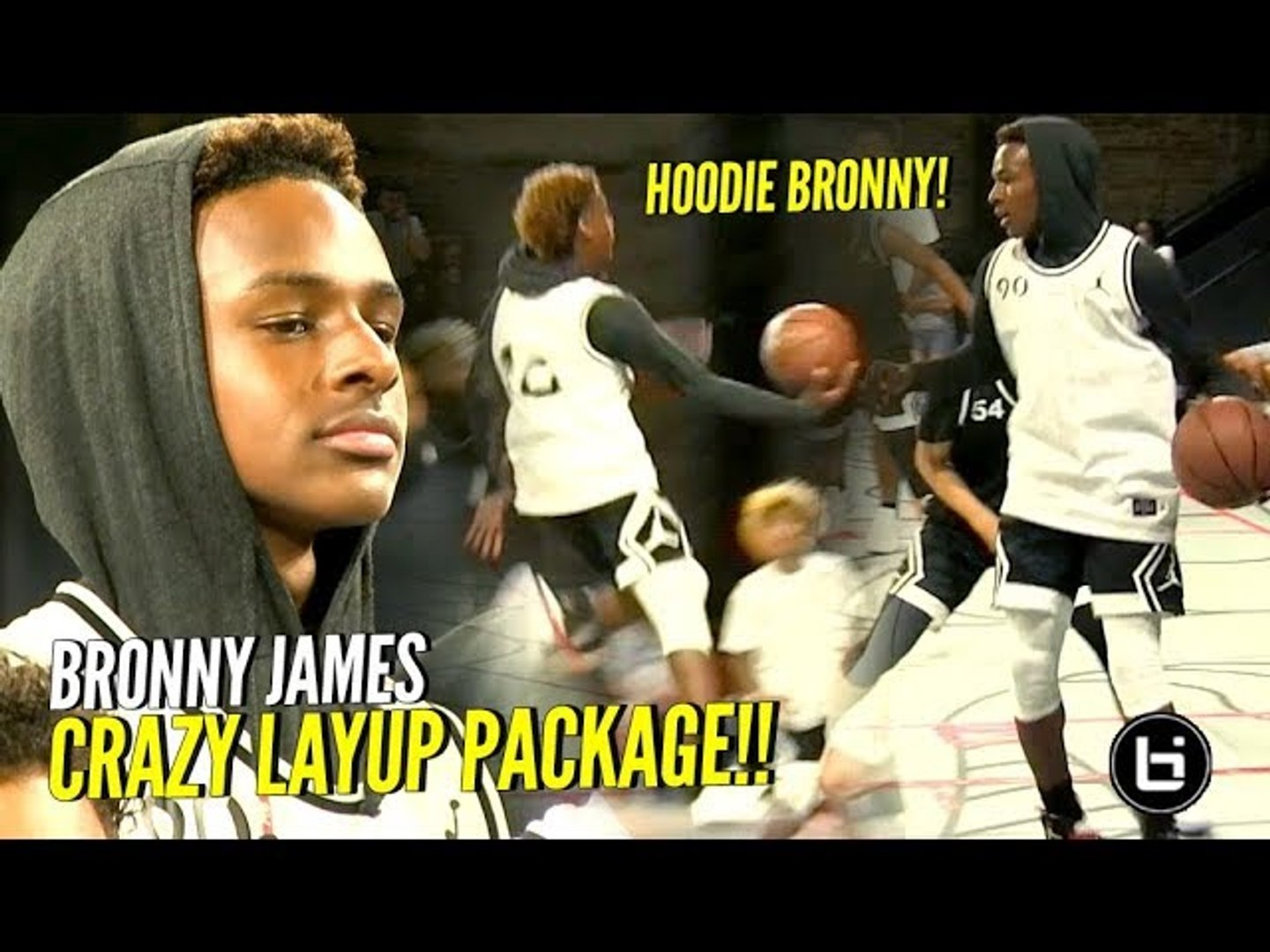 free shipping dd457 a4c86 HOODIE BRONNY ACTIVATED!! Bronny James & Mikey Williams DUNKING & JELLY at  #JordanFOF
