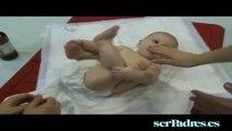 Masajes Shantala para bebés. 5. Espalda