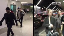 Sharon Stone vs Elle Fanning, duelo sin maquillaje en el aeropuerto