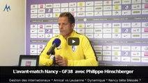 AS Nancy Lorraine - GF38 : avant-match avec Philippe Hinschberger