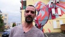 """""""Je ne suis pas un graffeur car je ne suis pas issu de la culture hip hop mais je peins la nature sur les murs."""""""