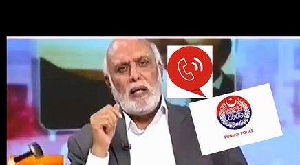 News analyst Haroon Rasheed threatens an honest police officer