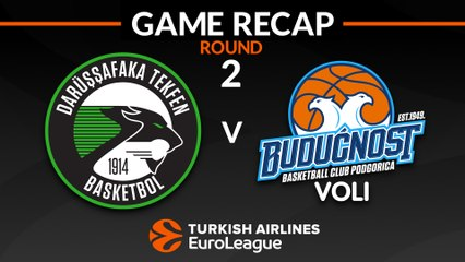 EuroLeague 2018-19 Highlights Regular Season Round 2 video: Darussafaka 71-63 Buducnost