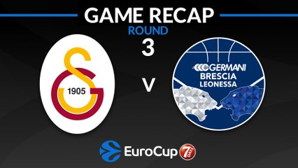 7Days EuroCup Highlights Regular Season, Round 3: Galatasaray 84-76 Brescia