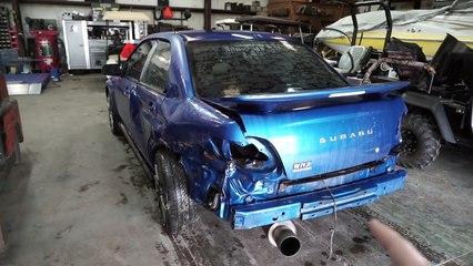 rebuilding a wrecked wrx pt 3 paint prep