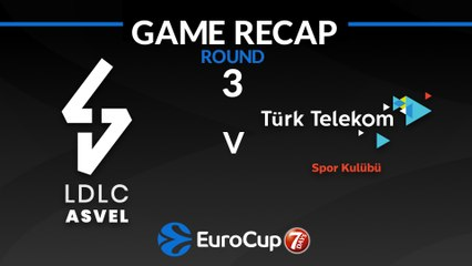 7Days EuroCup Highlights Regular Season, Round 3: ASVEL 84-63 Turk Telekom