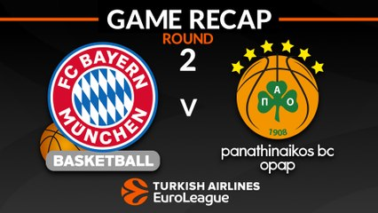 EuroLeague 2018-19 Highlights Regular Season Round 2 video: Bayern 80-79 Panathinaikos