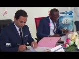 RTG/Signature d'une convention du directeur général de l'OPRAG et le directeur général polycRabat Sevamed
