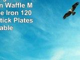 Richard Bergendi Double Belgian Waffle Maker Waffle Iron 1200 W Non Stick Plates Variable