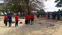 National team head coach Sven Vandenbroek this morning led national team players to the Gabon crash site in Libreville. In 1993, Zambia lost the entire Nation