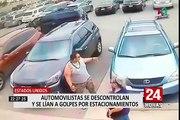 EE.UU: conductores se agarran a golpes y puñetazos por estacionamientos