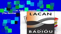 Library  Lacan: Anti-Philosophy 3 (The Seminars of Alain Badiou)