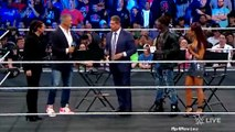 stephanie mcmahon, shane mcmahon and vince mcmahon on truth tv show wwe smackdown live october 16 2018