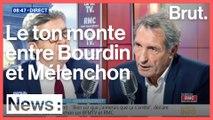 Grosse tension entre Jean-Luc Mélenchon et Jean-Jacques Bourdin
