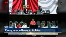 Comparece Rosario Robles. #TeleDiario #Mexico #Monterrey #Noticias