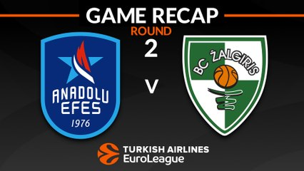 EuroLeague 2018-19 Highlights Regular Season Round 2 video: Efes 79-93 Zalgiris