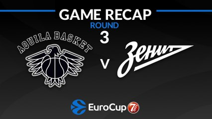 7Days EuroCup Highlights Regular Season, Round 3: Trento 60-93 Zenit