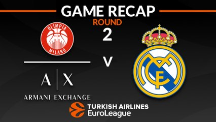 EuroLeague 2018-19 Highlights Regular Season Round 2 video: AX Milan 85-91 Real Madrid