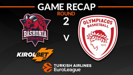 EuroLeague 2018-19 Highlights Regular Season Round 2 video: Baskonia 80-85 Olympiacos