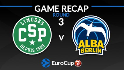 7Days EuroCup Highlights Regular Season, Round 3: Limoges 93-102 ALBA
