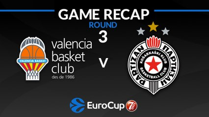 7Days EuroCup Highlights Regular Season, Round 3: Valencia 79-71 Partizan