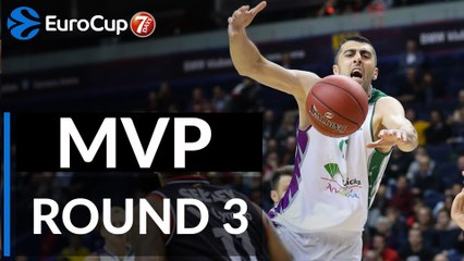 7DAYS EuroCup Regular Season Round 3 co-MVPs: Raymar Morgan & Giorgi Shermadini