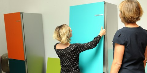 Découvrez l'univers haut en couleur des réfrigérateurs VarioStyle de Bosch