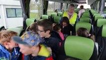 Les conseils de la FBCO pour évacuer un car scolaire (à l'école communale de Bosson)