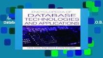 D.O.W.N.L.O.A.D [P.D.F] Encyclopedia of Database Technologies and Applications [A.U.D.I.O.B.O.O.K]