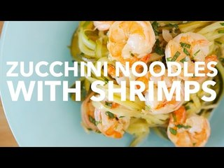 Zucchini Noodles with Shrimps [BA Recipes]