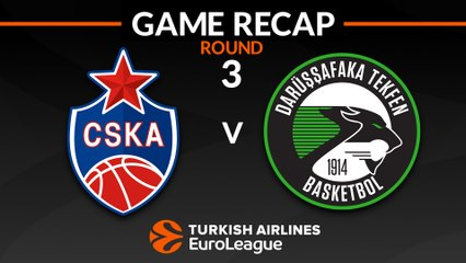 EuroLeague 2018-19 Highlights Regular Season Round 3 video: CSKA 79-75 Darussafaka