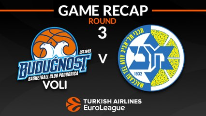 EuroLeague 2018-19 Highlights Regular Season Round 3 video: Buducnost 68-78 Maccabi